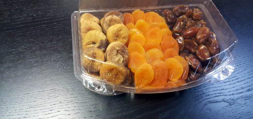 Caserola cu 3 compartimente pentru fructe uscate si seminte
