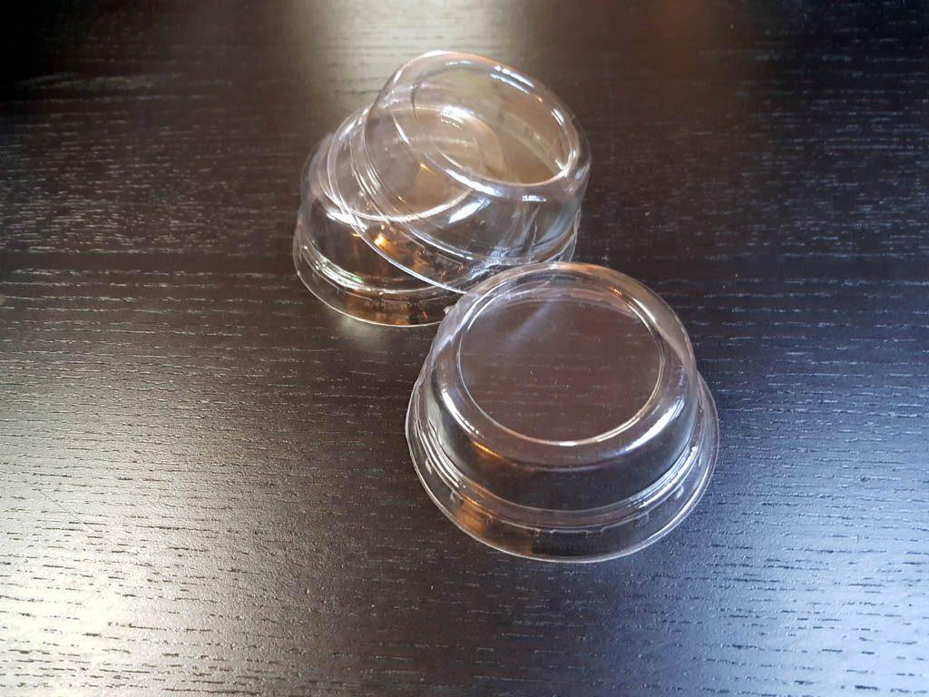 Capace plate din plastic transparent pentru pahare din hartie si plastic - 1