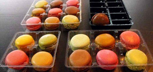 Chese plastic pentru 6 Macarons, Minimacarons etc.