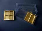 ambalaje cutii plastic cu chese praline Model 195 - 16x8x3cm m