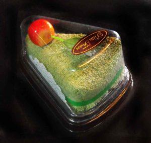 Caserole plastic cu capac pentru felie tort