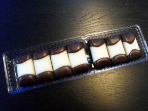 Chese plastic cu 2 alveole pentru biscuiti cu ciocolata