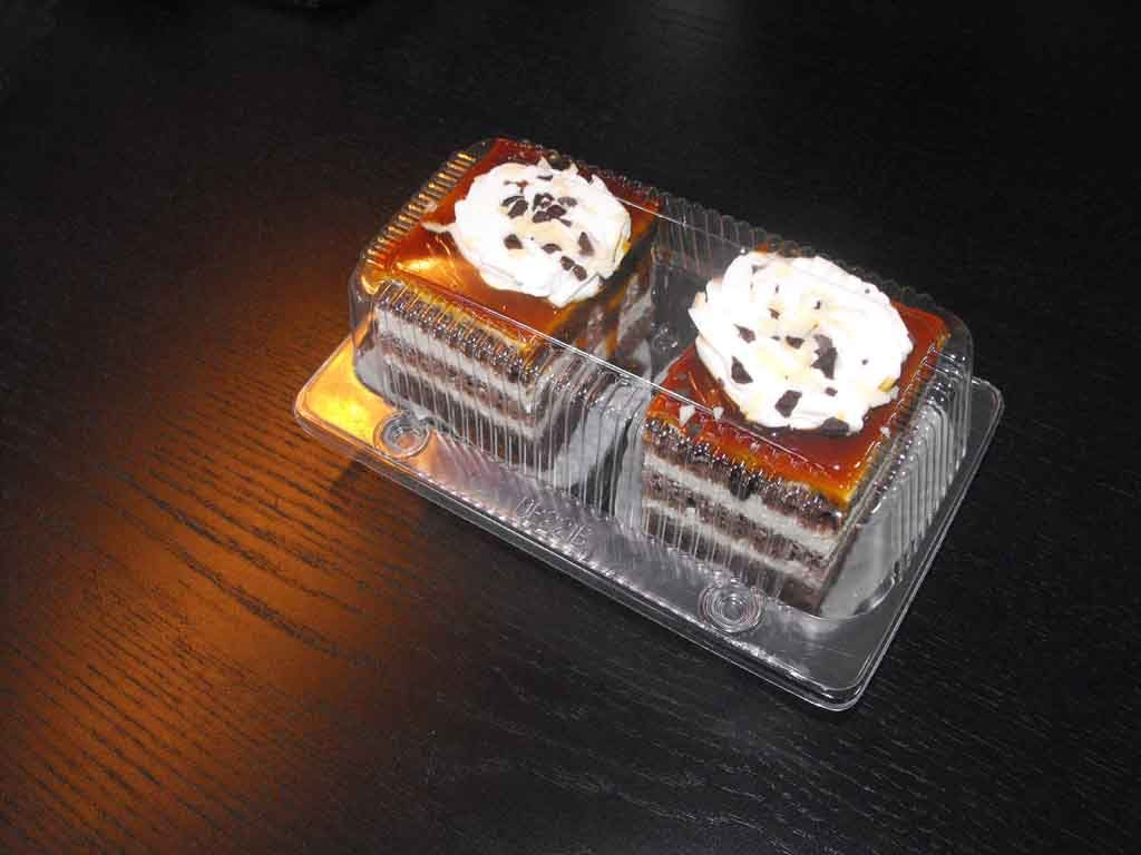 caserola compartimentata 2 prajituri cu caramel
