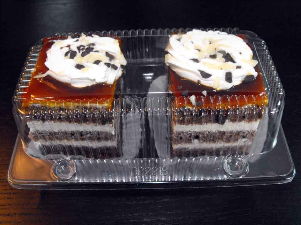 caserola compartimentata 2 prajituri cu caramel, caserole cofetarii