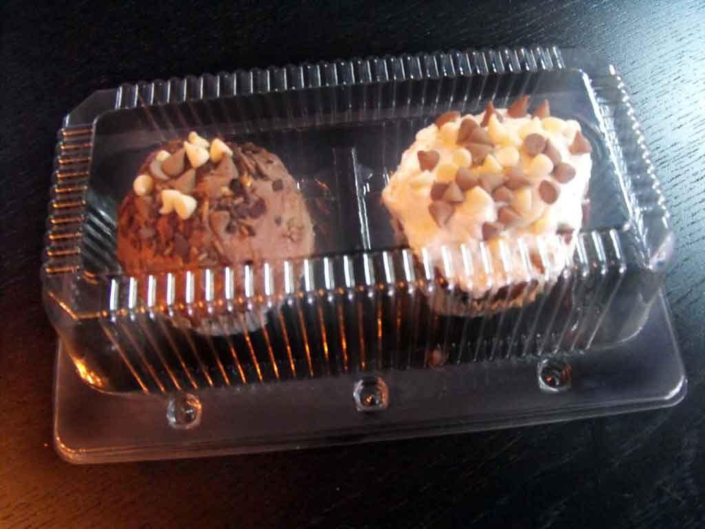 caserola doua compartimente cu 2 muffins