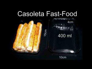 Caserole din plastic (model fast-food mica – 4054)