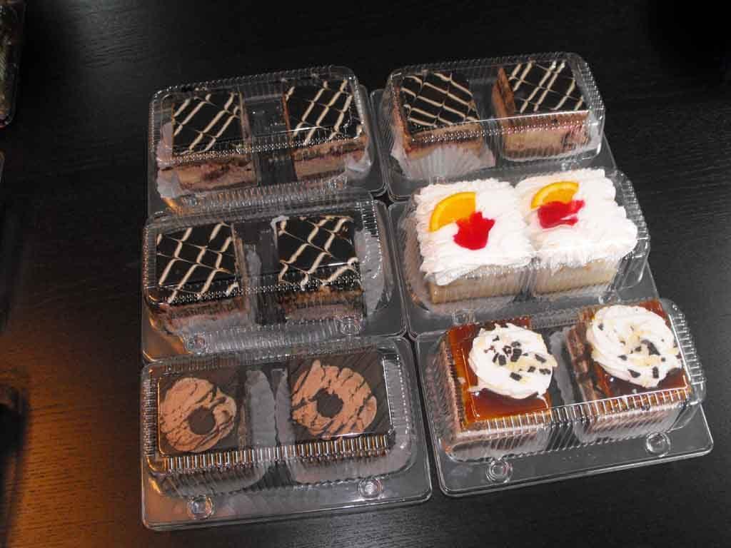 caserole plastic 2 compartimente prajituri inalte