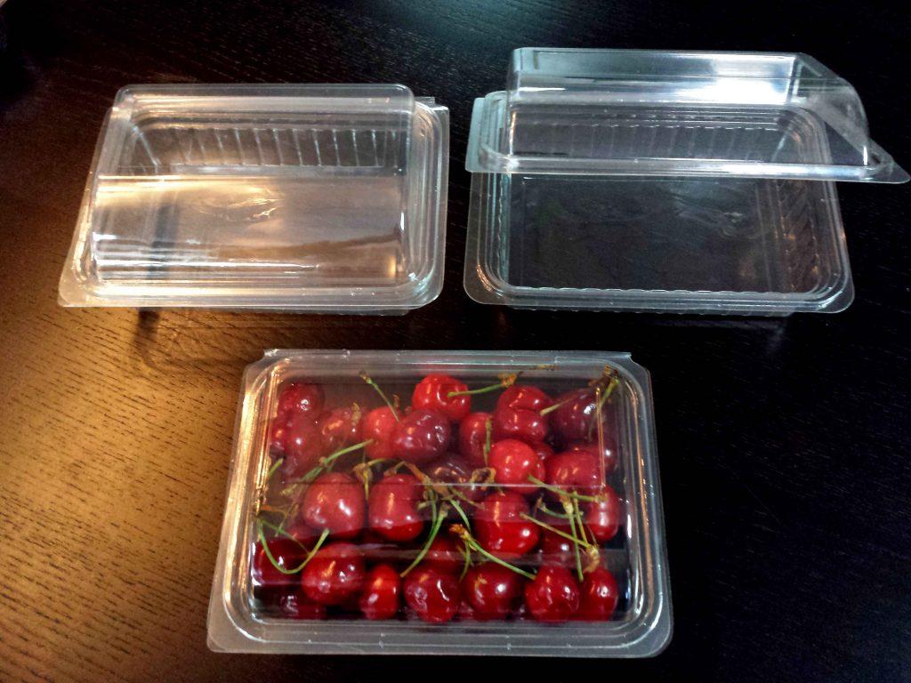 caserole plastic pentru cirese, caserole capsuni, caserole fructe