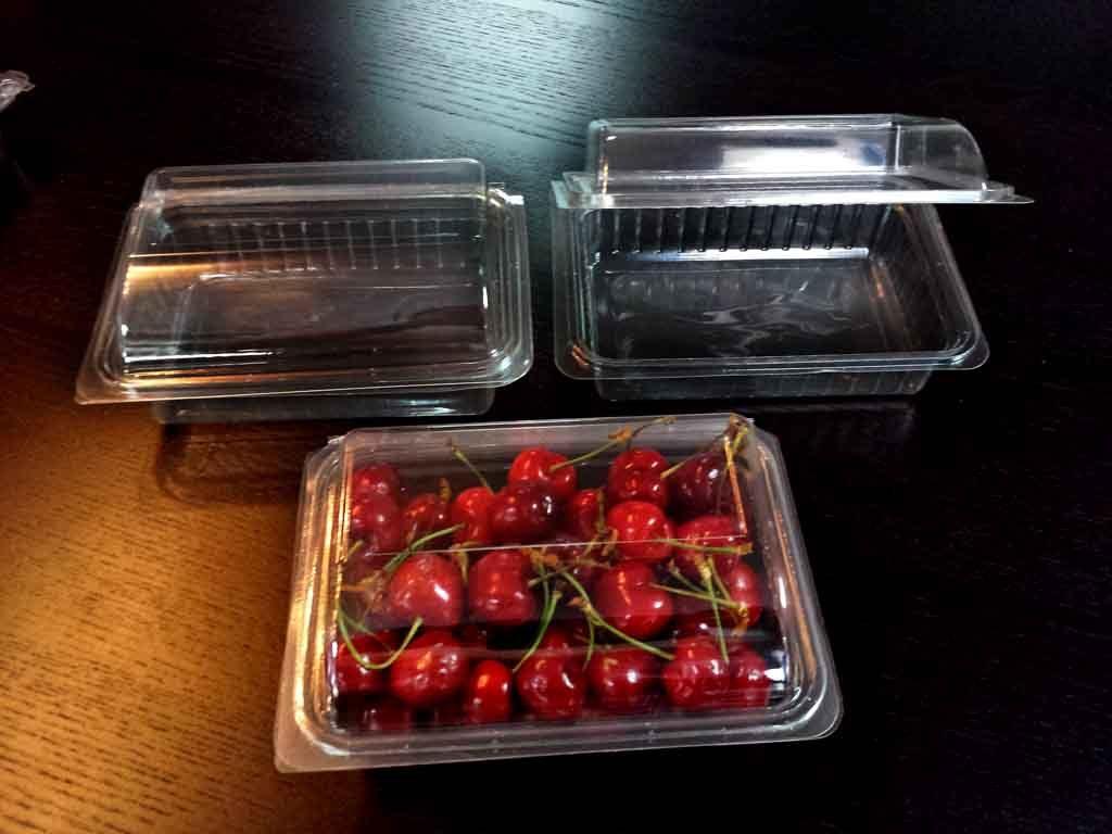 caserole plastic pentru fructe, cirese, capsuni