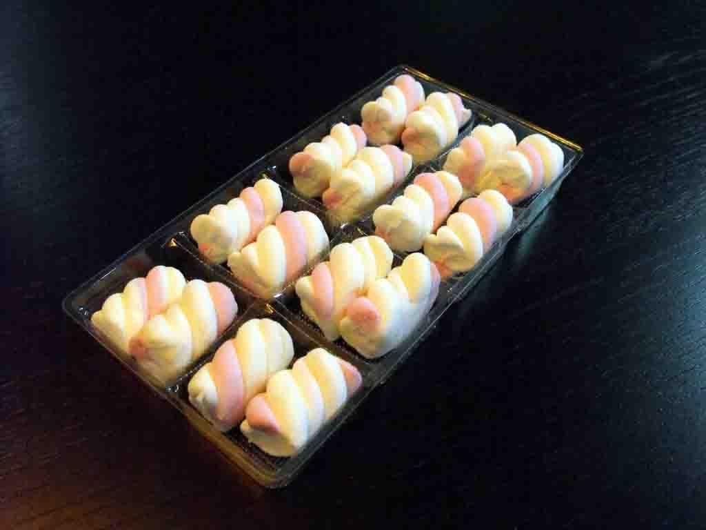 chesa plastic 8 alveole pentru marshmallow, chese compartimentate