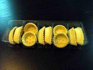 Chese din plastic cu 5 alveole pentru cosulete tarte etc.