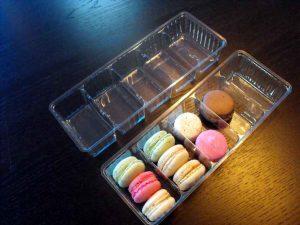 Chese din plastic cu 5 alveole pentru 15 Macarons.