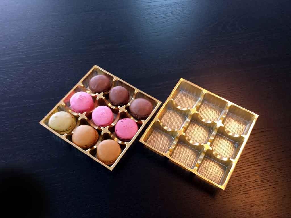chese plastic auriu pentru macarons,chese plastic macarons