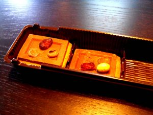 Chese compartimentate din plastic cu 3 compartimente pentru fursecuri, biscuiti etc.