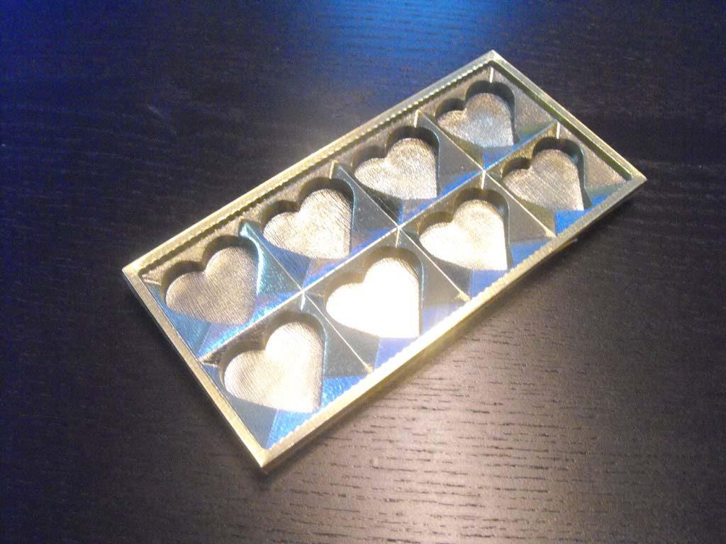 chese plastic ciocolata inimioare,chese