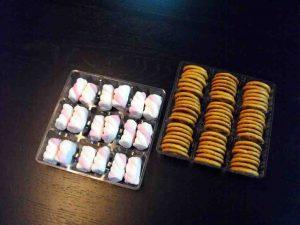 Chese plastic transparent cu 9 alveole pentru figurine Marshmallow etc.