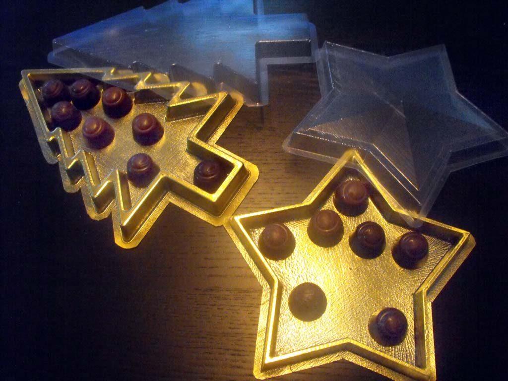 chese plastic praline,chese aurii praline forma bradut