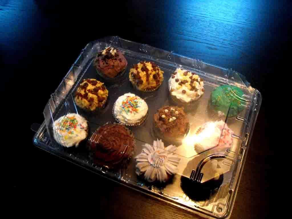 cutie plastic transparenta cupcakes 12 buc 3