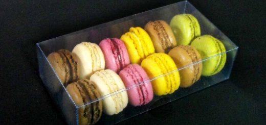Caserole din plastic pentru 12 Macarons, Minimacarons etc.