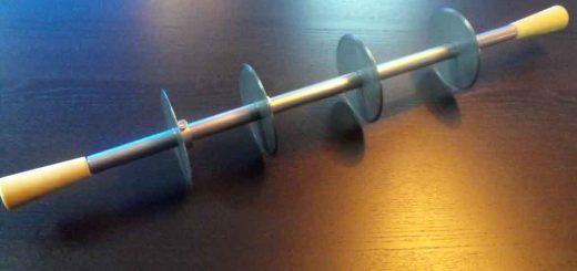 Dispozitiv cu discuri de taiere (cutite) pentru industria ciocolatei.