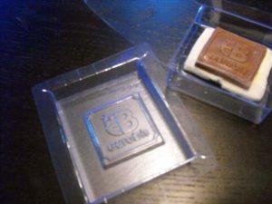 Forme din plastic pentru turnat ciocolata.