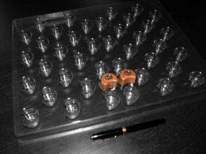 Forme pentru turnat bomboane cafea (model 4012).