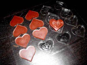 Forme pentru turnat ciocolata model inima (model 4299) .