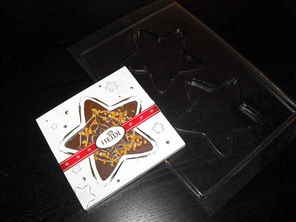 forme plastic pentru ciocolata stea.