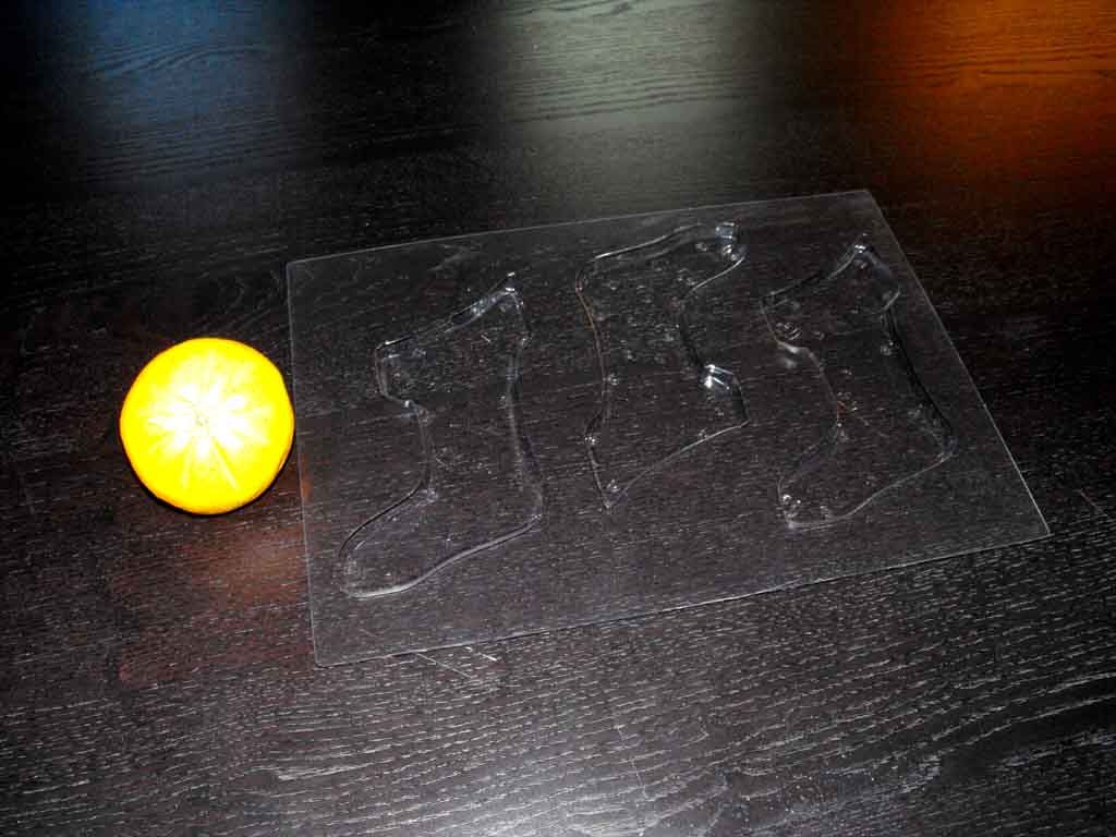 forme plastic pentru turnat ciocolata model soseta