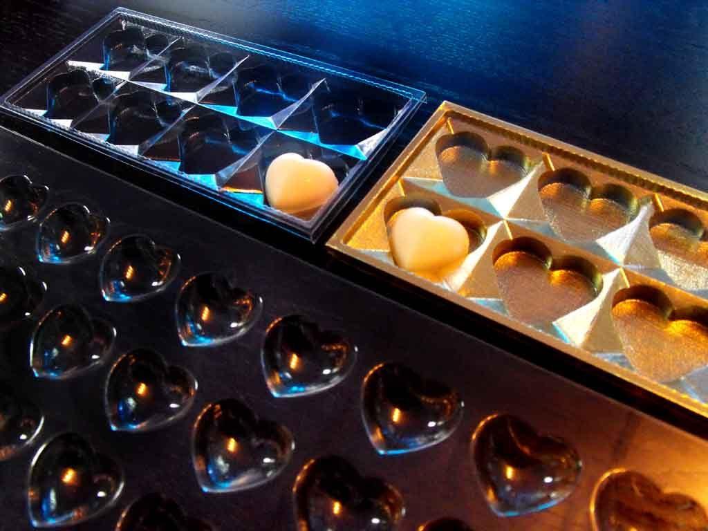 forme sablon turnat ciocolata inimioare, forme plastic sablon