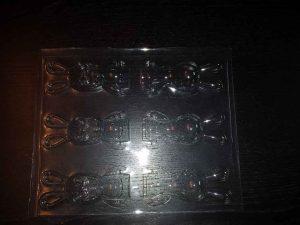Forme turnat ciocolata figurine iepuras (model 4187).