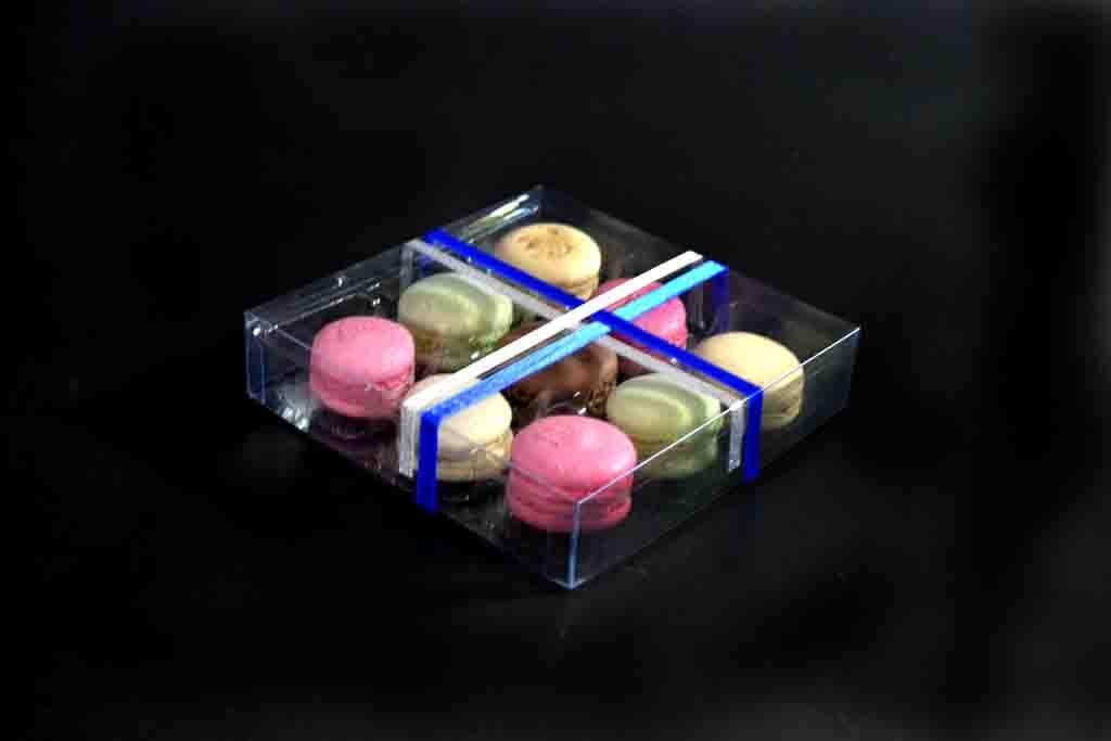 model 199 cutie transparenta cu funda chesa 9 macarons 1