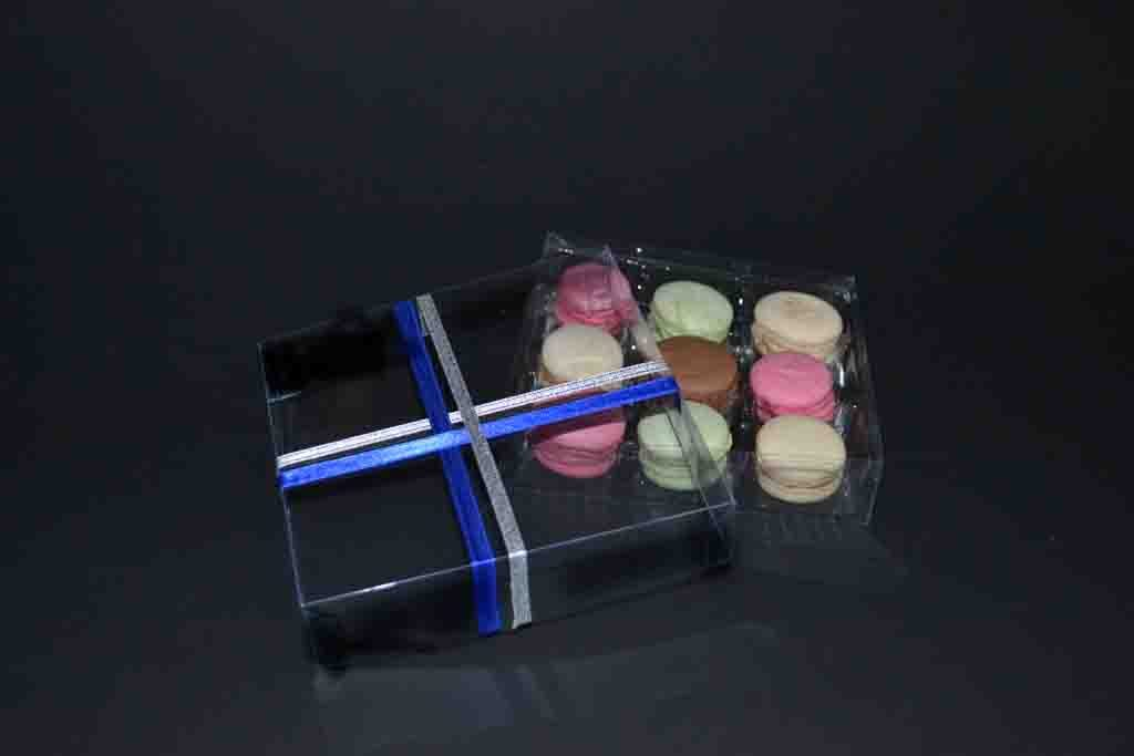 model 199 cutie transparenta funda chesa 9 macarons