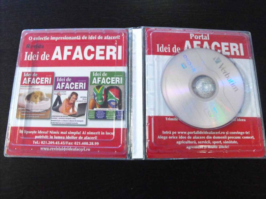 promotie ambalaj carte cd cu blister interior deschisa