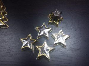 Chese forma de stea mica pentru ciocolata sau bomboane.