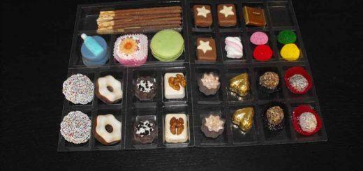 Tava compartimentata produse cofetarie, patiserie, ciocolaterie etc.