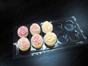 Tavi plastic transport cupcakes, muffins, prajituri etc.